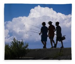 Going Fishing Fleece Blanket