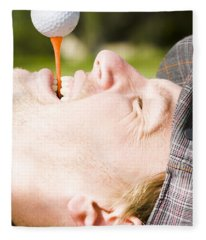Golf Fun Fleece Blanket