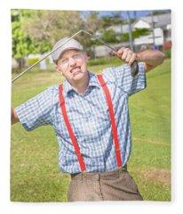 Golf Temper Tantrum Fleece Blanket