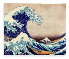 Great Wave Off Kanagawa Fleece Blanket