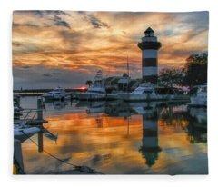 Harbour Town Sunset Fleece Blanket