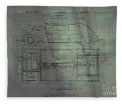 Harleigh Holmes Automobile Patent From 1932 Fleece Blanket