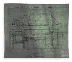 Harleigh Holmes Original Automobile Patent  Fleece Blanket