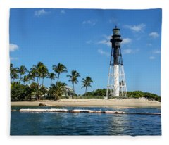 Hillsboro Inlet Lighthouse Fleece Blanket
