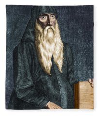 Hippocrates, Ancient Greek Physician Fleece Blanket