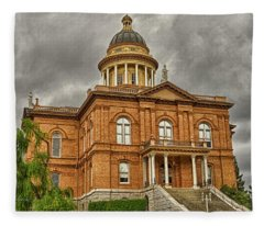 Historic Placer County Courthouse Fleece Blanket