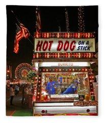 Hot Dog On A Stick Fleece Blanket