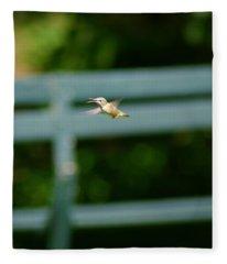 Hummer In Flight Fleece Blanket