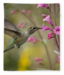 Hummingbird Heaven  Fleece Blanket