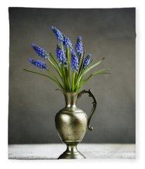 Hyacinth Still Life Fleece Blanket