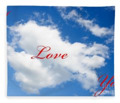 1 I Love You Heart Cloud Fleece Blanket