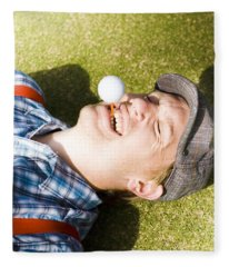Insane Sport Nut Crazy About Golf Fleece Blanket