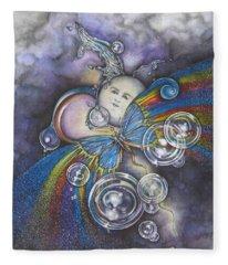 Into The Cosmos Fleece Blanket