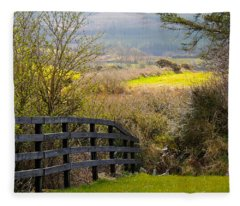Irish Countryside In Spring Fleece Blanket