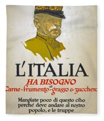 Italy Has Need Of Meat Wheat Fat And Sugar Fleece Blanket