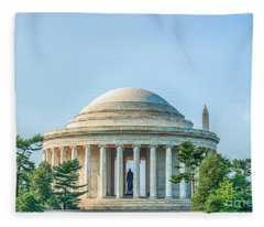 Jefferson Memorial Fleece Blanket