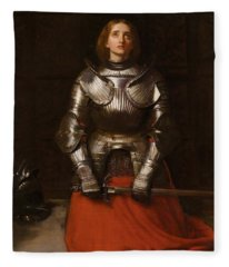 Joan Of Arc  Fleece Blanket