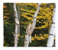 Kancamagus Highway - White Mountains New Hampshire Fleece Blanket