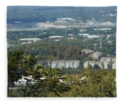 Fleece Blanket featuring the photograph Kennesaw Battlefield Mountain by Rafael Salazar