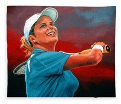 Kim Clijsters Fleece Blanket