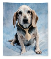 Kippy Beagle Senior And Best Dog Ever Fleece Blanket