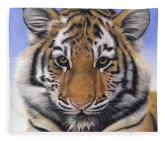Little Big Cat Fleece Blanket