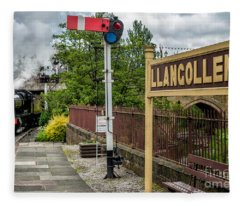 Llangollen Railway Station Fleece Blanket