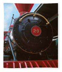 Locomotive At The Chattanooga Choo Fleece Blanket