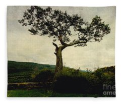 Lonely Tree Fleece Blanket
