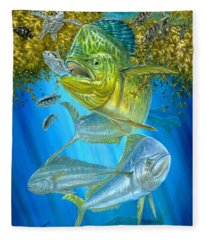 Mahi Mahi Hunting In Sargassum Fleece Blanket