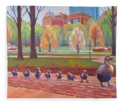Make Way For Ducklings Fleece Blanket