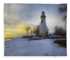 Marblehead Lighthouse Lake Erie Fleece Blanket