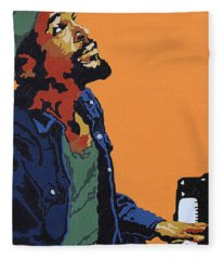 Marvin Gaye Fleece Blanket
