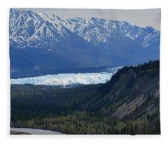 Matanuska Glacier Fleece Blanket