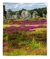 Megalithic Monuments In Brittany Fleece Blanket