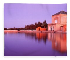 Menara, Marrakech, Morocco Fleece Blanket