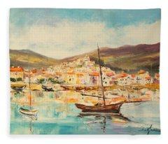 Mentone Harbour Fleece Blanket