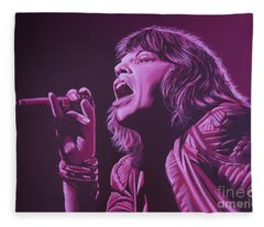 Mick Jagger 2 Fleece Blanket