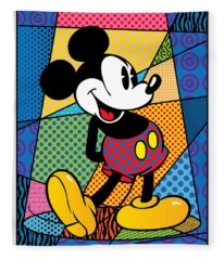 Mickey Spotlight Fleece Blanket