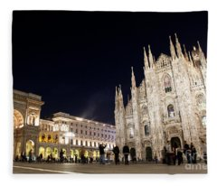Milan Cathedral Vittorio Emanuele II Gallery Italy Fleece Blanket