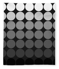 Mod Pop Gradient Circles Black And White Fleece Blanket