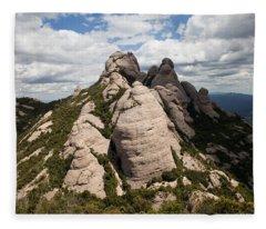 Montserrat Mountain In Spain Fleece Blanket
