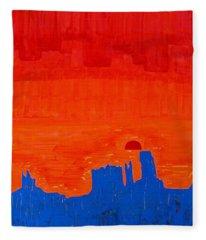 Monument Valley Original Painting Fleece Blanket