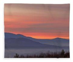Mountain Sunrise 1 Fleece Blanket