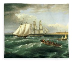 Mouth Of The Delaware Fleece Blanket