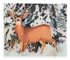 Mule Deer Fleece Blanket