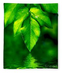 Natural Leaves Background Fleece Blanket