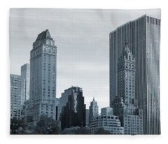New York City From Central Park Fleece Blanket