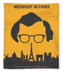 No312 My Manhattan Minimal Movie Poster Fleece Blanket