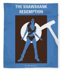 No246 My The Shawshank Redemption Minimal Movie Poster Fleece Blanket